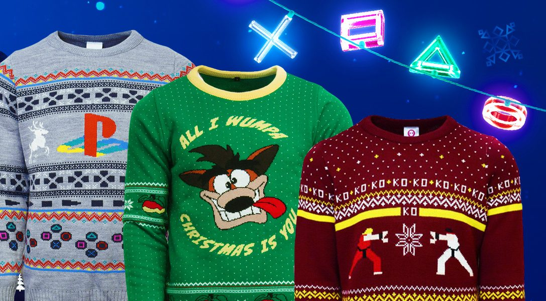 Christmas Jumpers, gift boxes and more come to PlayStation Gear