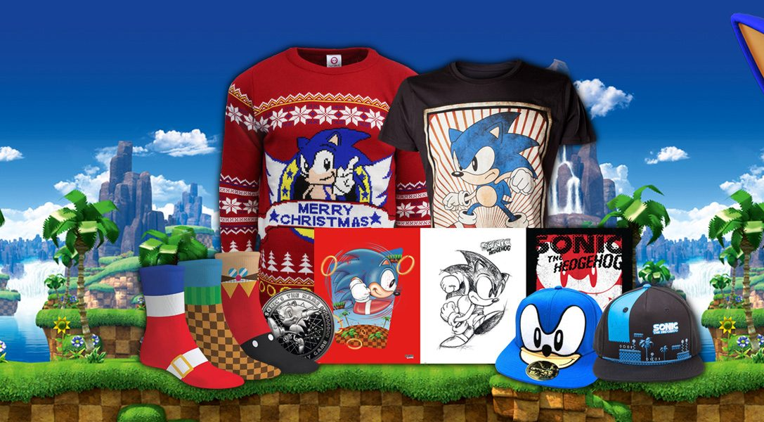 New Sonic the Hedgehog merchandise dashes onto PlayStation Gear