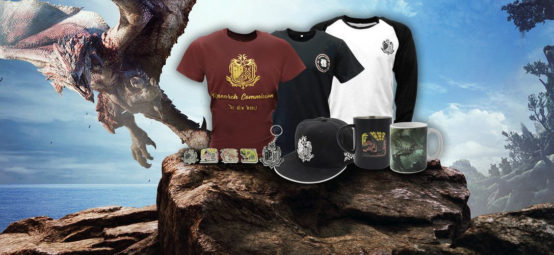 Discover the new Monster Hunter: World merchandise range on PlayStation Gear