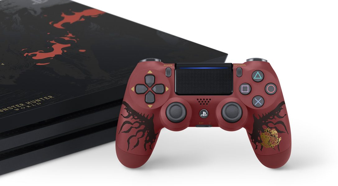 Introducing the limited edition Monster Hunter: World PlayStation 4 Pro bundle