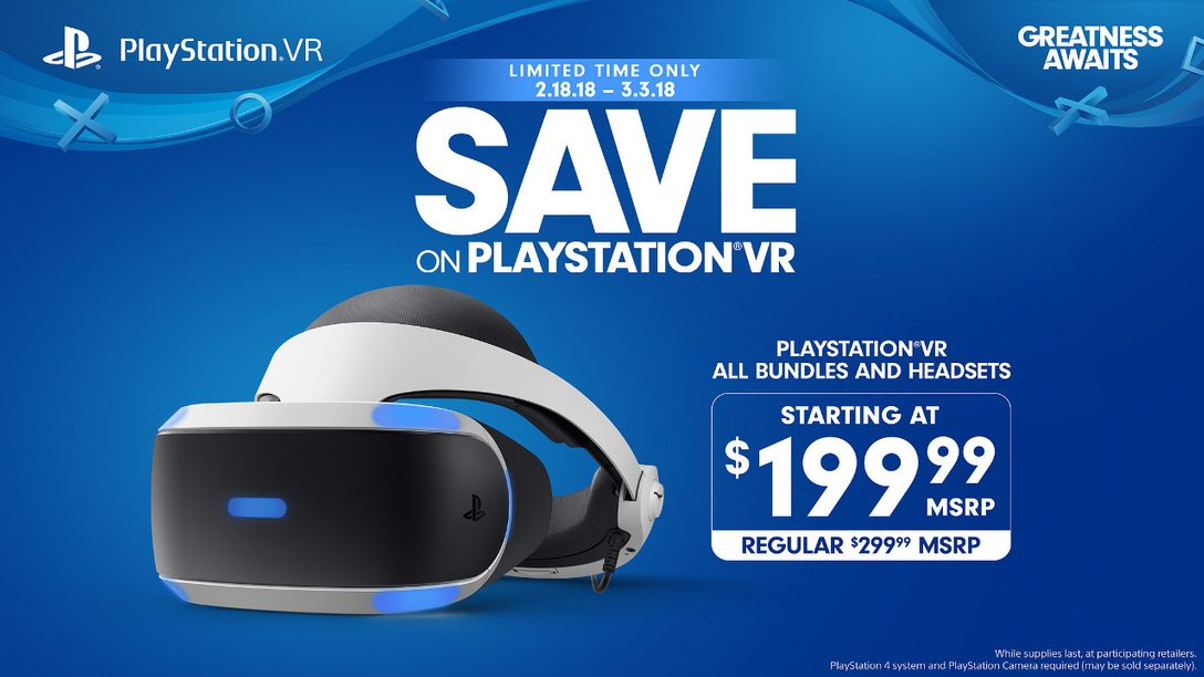New PlayStation VR Deals Available Starting February 18