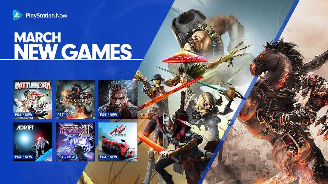Battleborn, Darksiders and More Join the PS Now Lineup