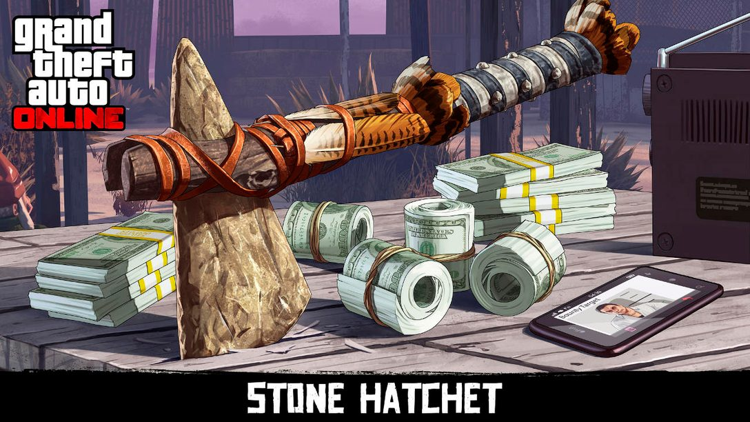 Earn the Stone Hatchet In GTA Online and Red Dead Redemption 2