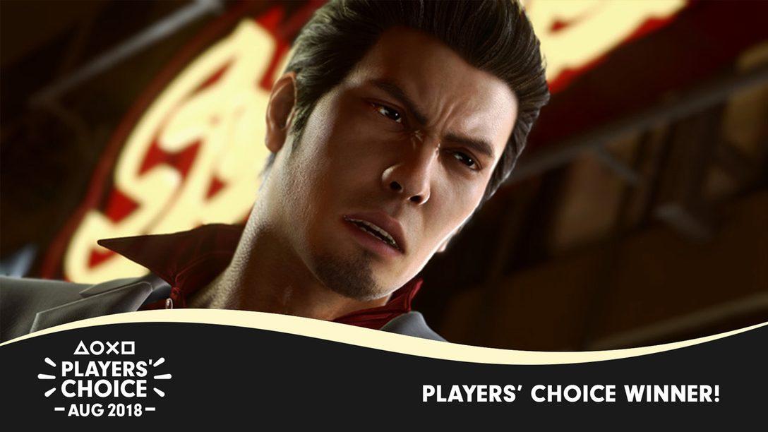 August 2018 Players' Choice Winner: Yakuza Kiwami 2