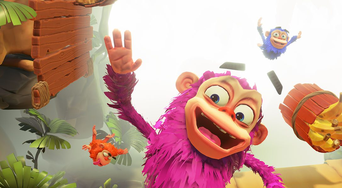 Go ape for mini-game-filled multiplayer Chimparty, swinging onto PlayLink on 14th November
