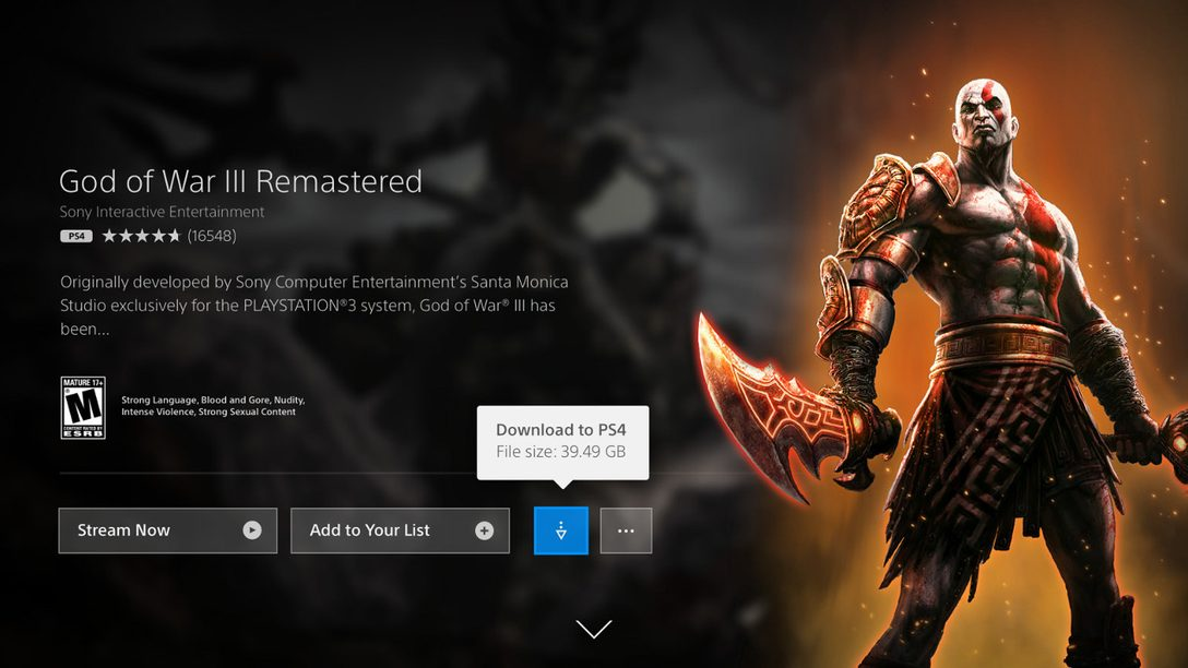 PlayStation Now Adds Downloading of PS4, PS2 Games