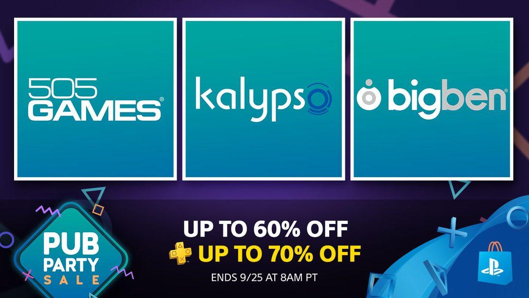 Pub Party Sale: Deals from 505 games, Kalyspo, Bigben