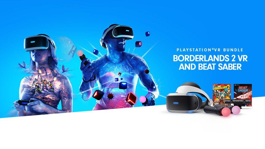 PlayStation VR Borderlands 2 VR and Beat Saber Bundle Launches December 14