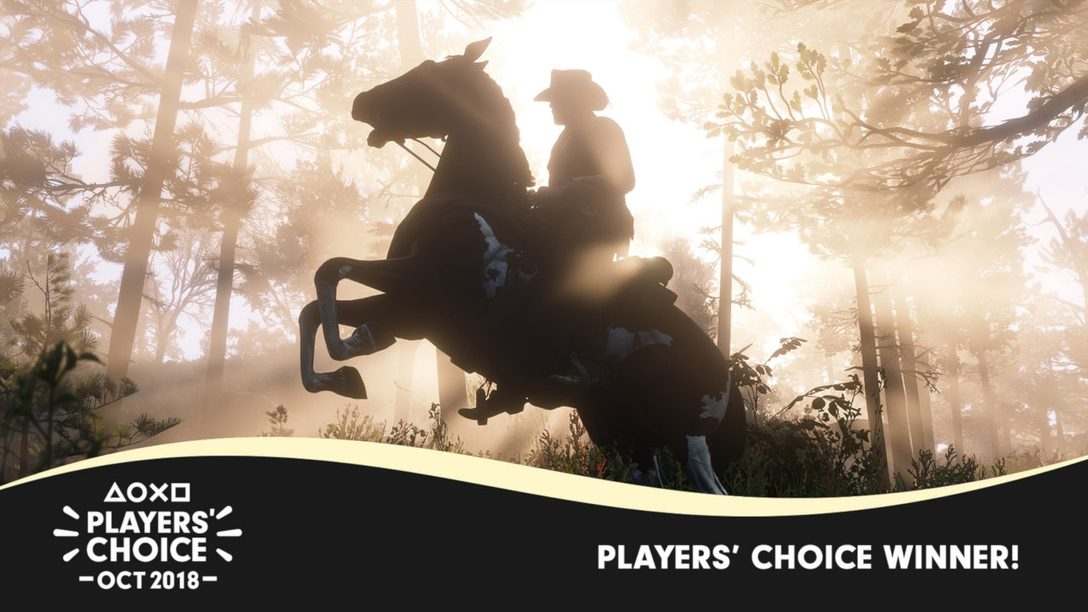 Players' Choice October 2018 Winner: Red Dead Redemption 2