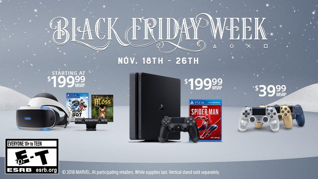 PlayStation's Black Friday Week 2018 Deals Revealed