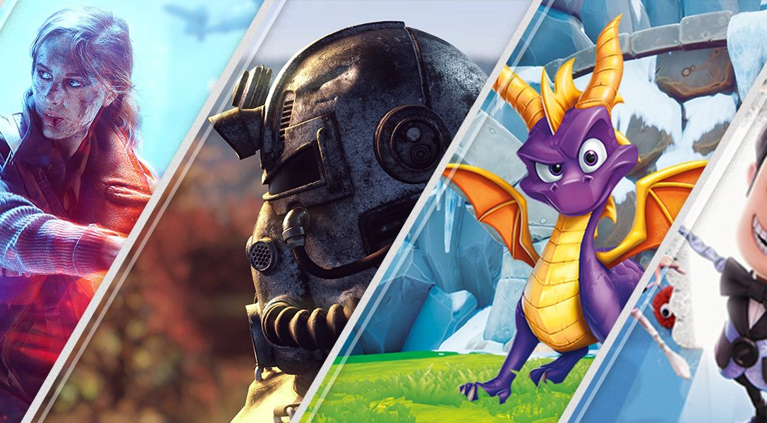 New on PlayStation Store this week: Battlefield V, Fallout 76, Spyro Reignited Trilogy, more