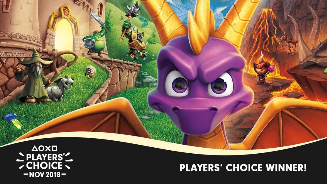 Players' Choice November 2018 Winner: Spyro Reignited Trilogy