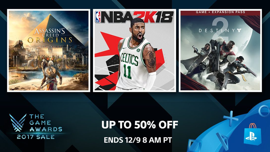 Celebrate The Game Awards with up to 50 percent off!