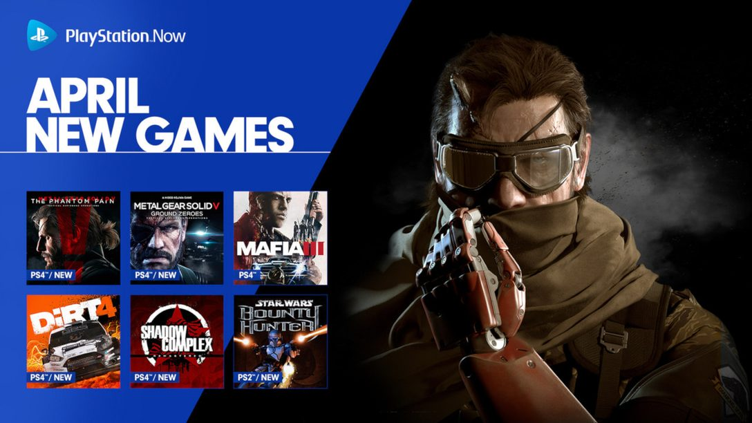 Metal Gear Solid V Headlines April's PlayStation Now Lineup