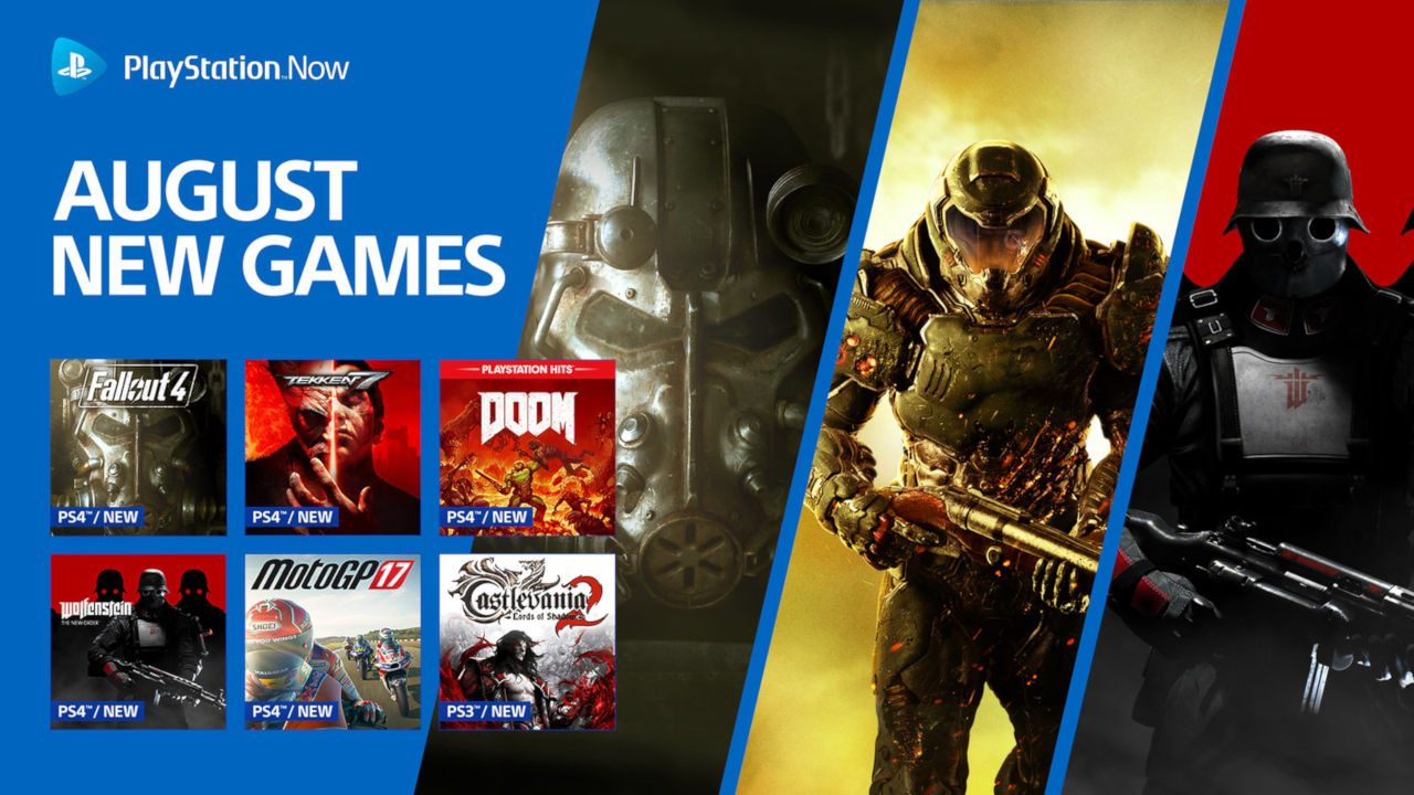 Games Joining Ps Now In August Fallout 4 Doom Tekken 7 More