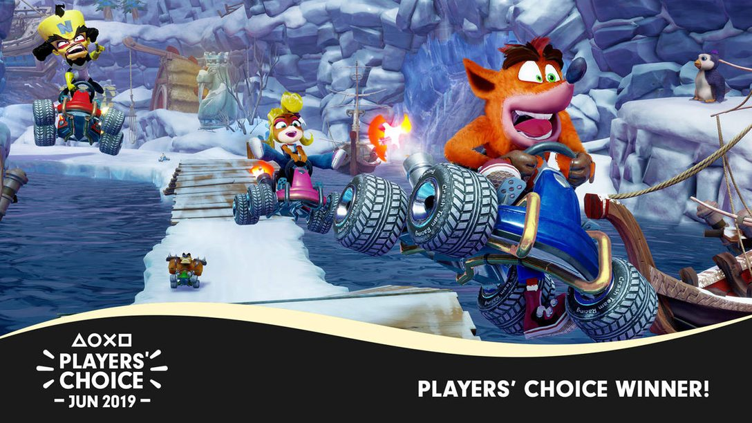 Players' Choice: Crash Team Racing: Nitro-Fueled Voted June's Best New Game