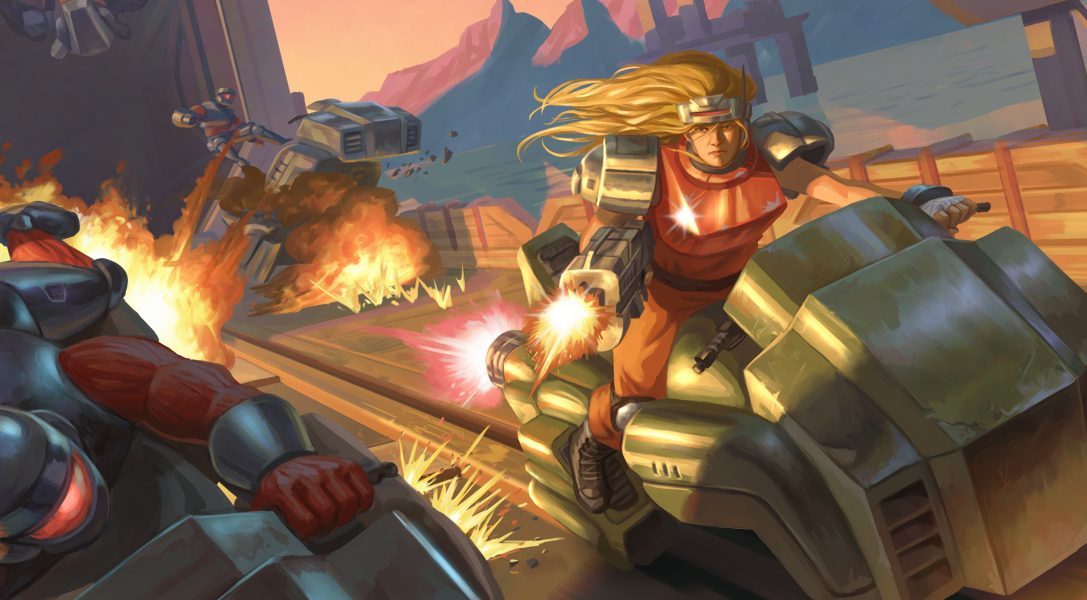 This is how Blazing Chrome's horde of unique, retro-style bosses were built