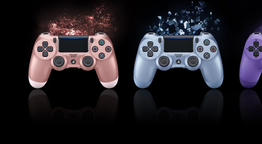 Get your first look at four new Dualshock 4 wireless controller colours, out this autumn