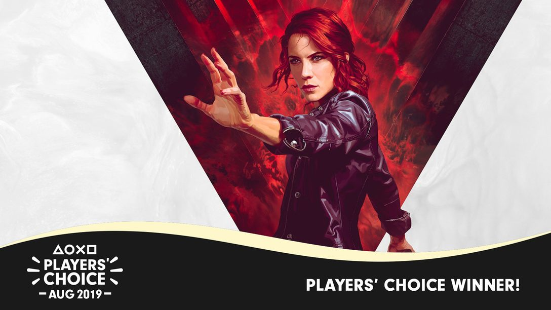 Players' Choice: Control Voted August's Best New Game