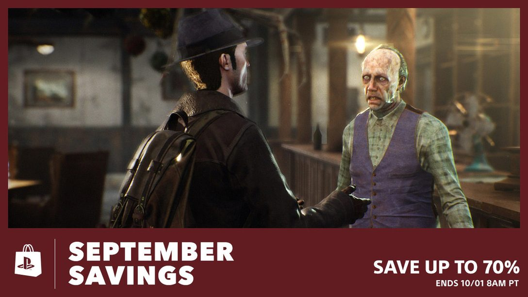 Save up to 70% with September Savings at PS Store