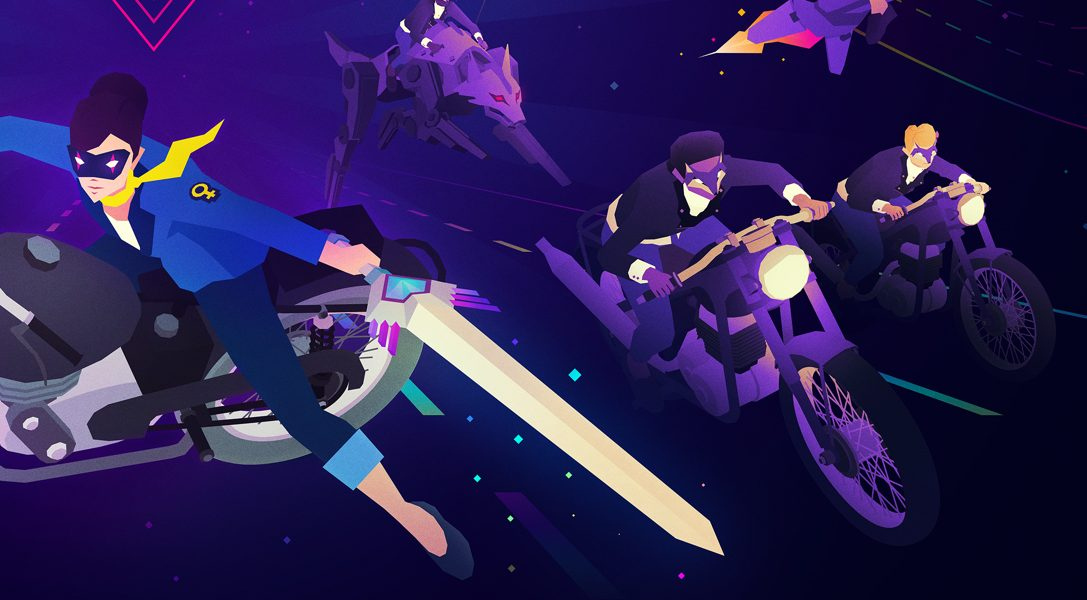 Energetic pop album meets arcade action thrills in Sayonara Wild Hearts, out next week on PS4