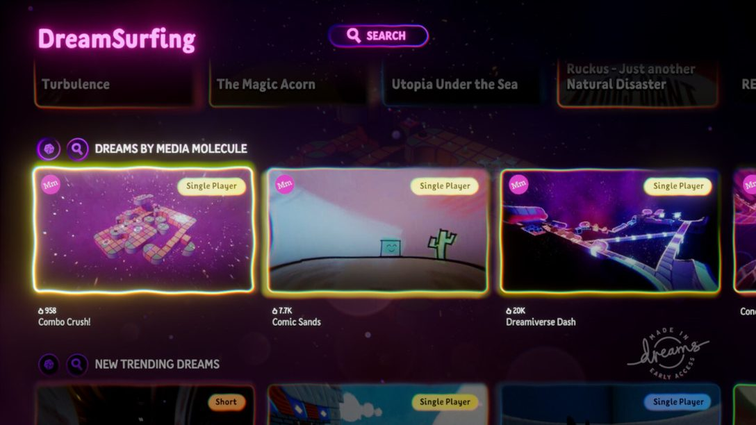 Dreams: New DreamSurfing Interface Rolls Out This Week