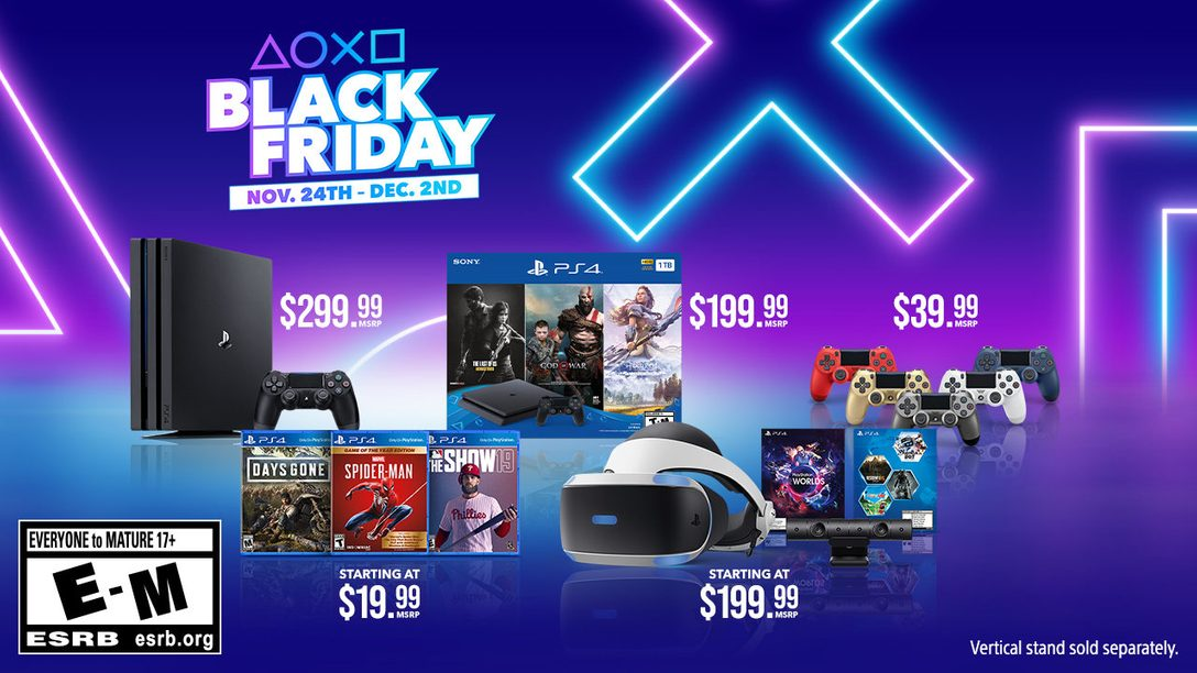 PlayStation 2019 Black Friday & Cyber Monday Deals Revealed