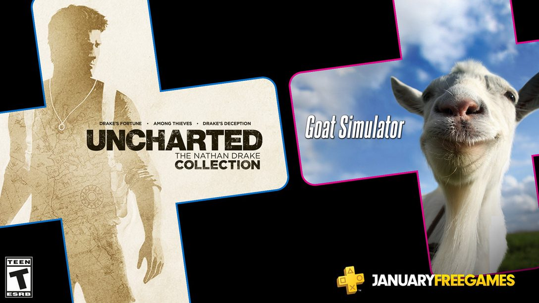 January S Free Ps Plus Games Uncharted The Nathan Drake Collection And Goat Simulator Playstation Blog