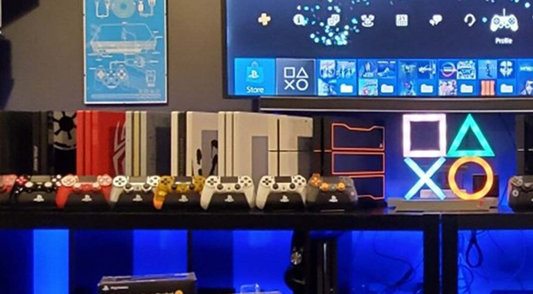 PlayStation fans from around the world showcase their home gaming setups