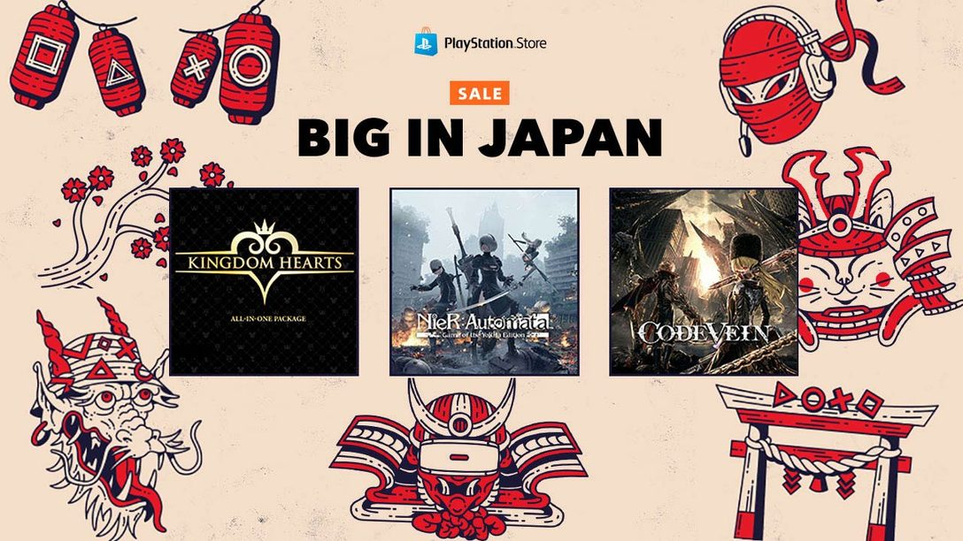 Save up to 70% with PS Store's Big in Japan Sale