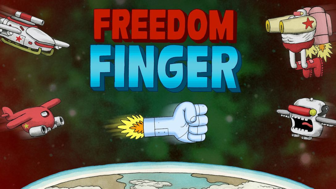 Side-Scrolling Cartoon Shoot 'em Up Freedom Finger Arrives Tomorrow on PS4