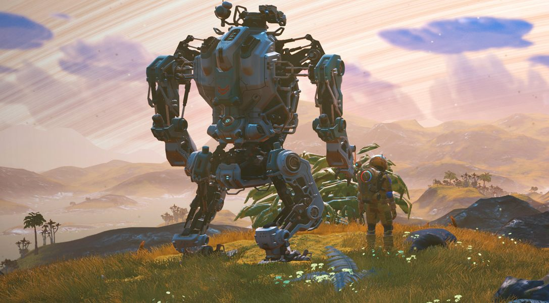 No Man's Sky introduces huge mechs in its latest free update, out now on PS4