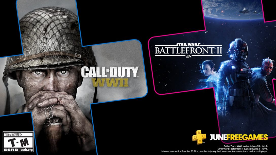 Star Wars Battlefront II and Call of Duty: WWII are your PS Plus games for June