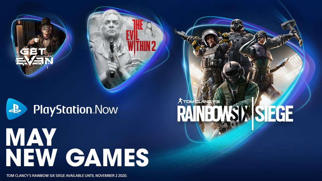Tom Clancy's Rainbow Six Siege, The Evil Within 2, Get Even Join PS Now in May