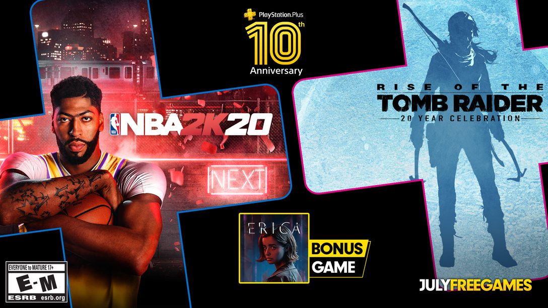 PlayStation Plus July games lineup & a thank you for 10 years of supporting PS Plus