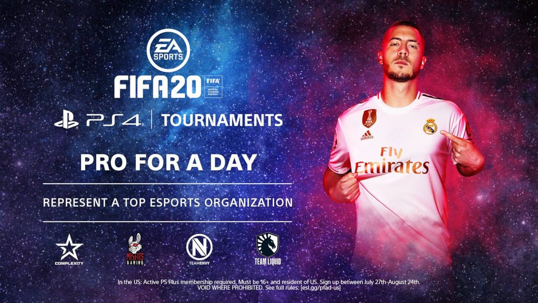 FIFA 20 PS4 Tournaments: Pro for a Day kicks off August 3