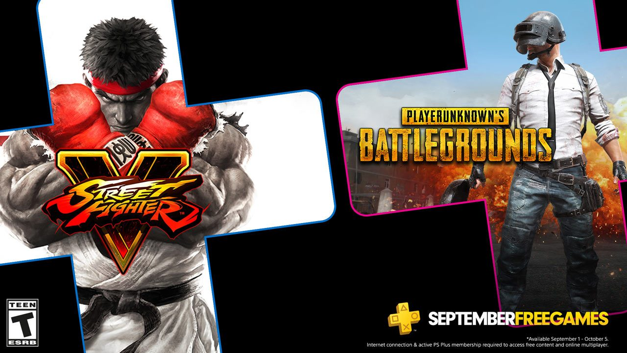September S Free Ps Plus Games Pubg Street Fighter V Playstation Blog