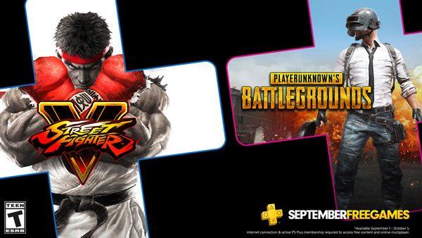 September's free PS Plus games: PUBG, Street Fighter V