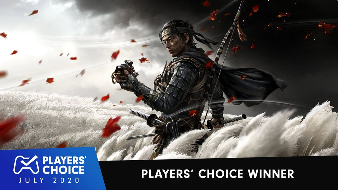 Players' Choice: Ghost of Tsushima voted July's best new game