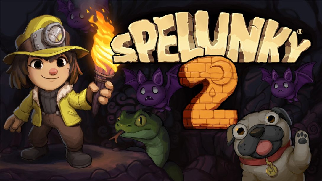 Spelunky 2 is out today on PS4