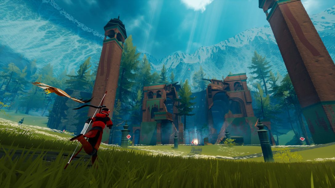 Building the vast, mysterious world of The Pathless, out November 12 on PS5 & PS4