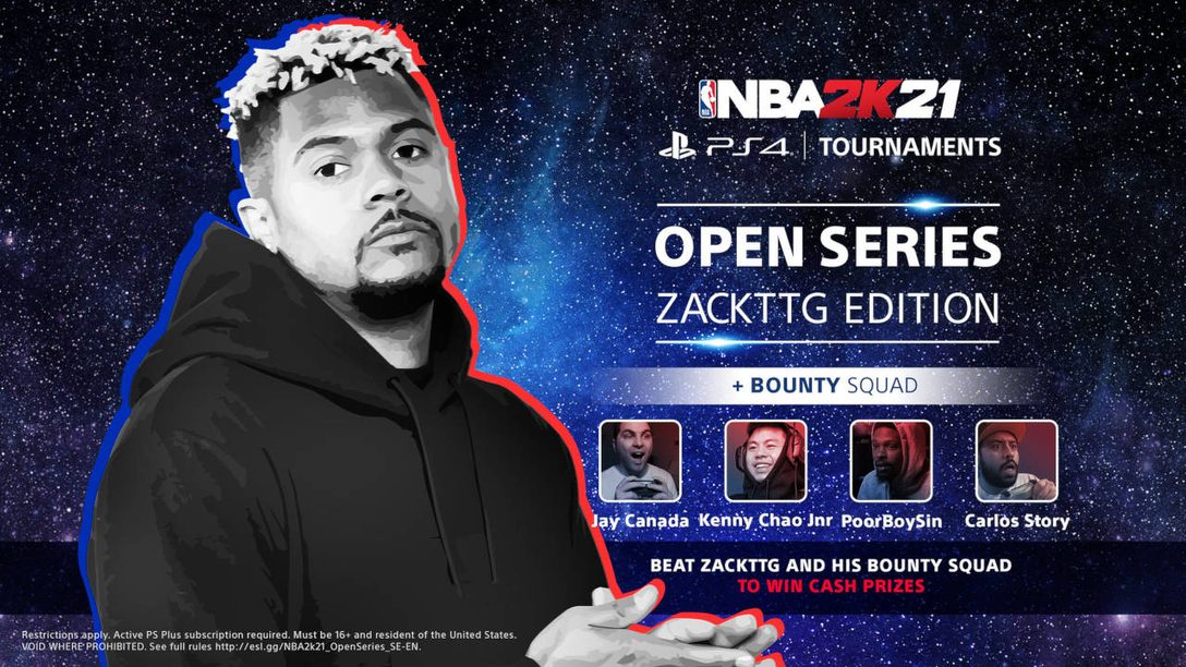 Take on NBA 2K content creators in the PS4 Tournaments: Open Series