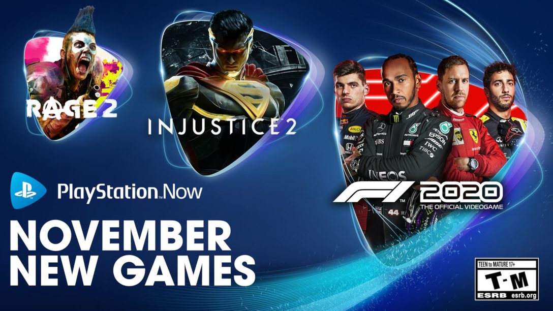 PlayStation Now Adds F1 2020, Injustice 2, RAGE 2, and More on November 3