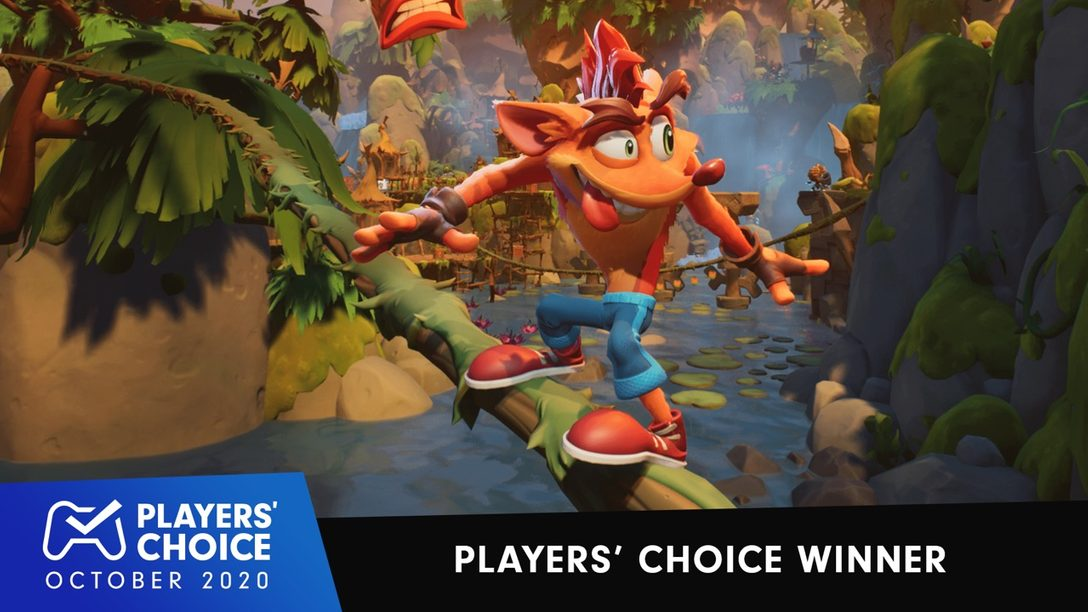 Players' Choice: Crash Bandicoot 4: It's About Time voted October's best new game