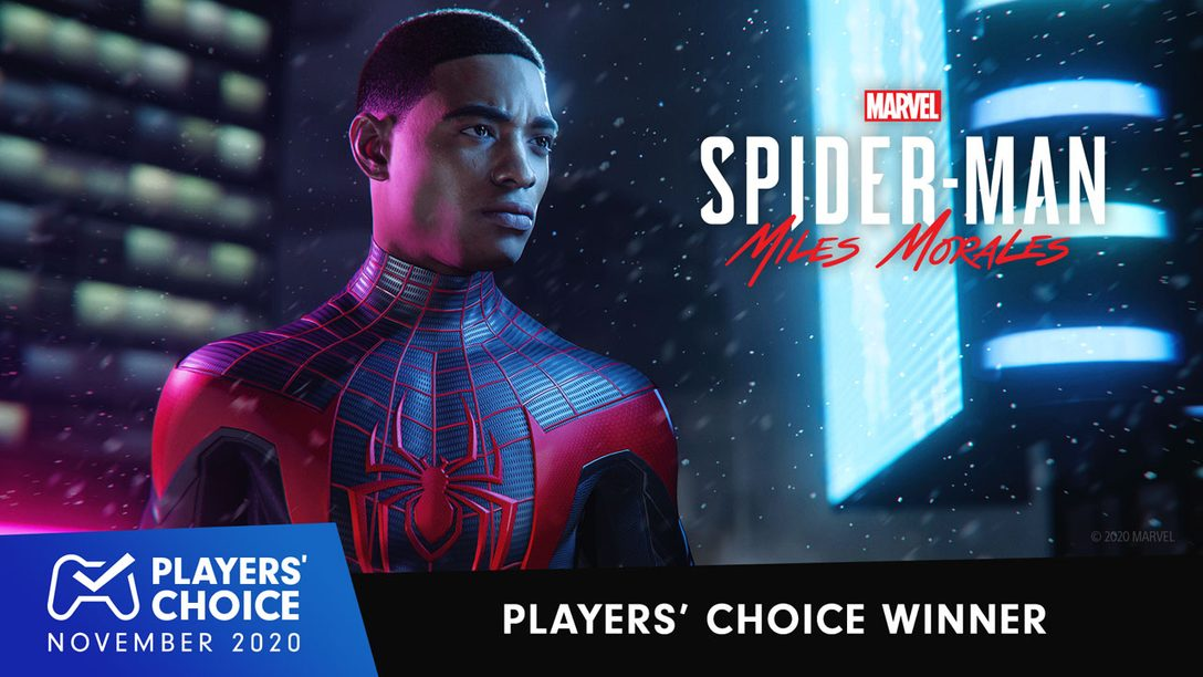 Players' Choice: Marvel's Spider-Man: Miles Morales voted November 2020's best new game