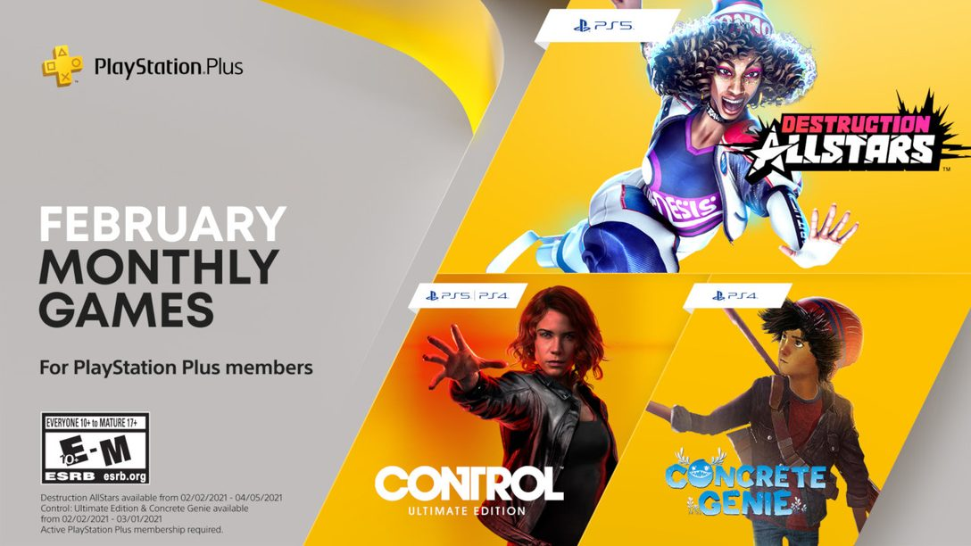 Destruction AllStars, Control: Ultimate Edition and Concrete Genie are your PlayStation Plus games for February