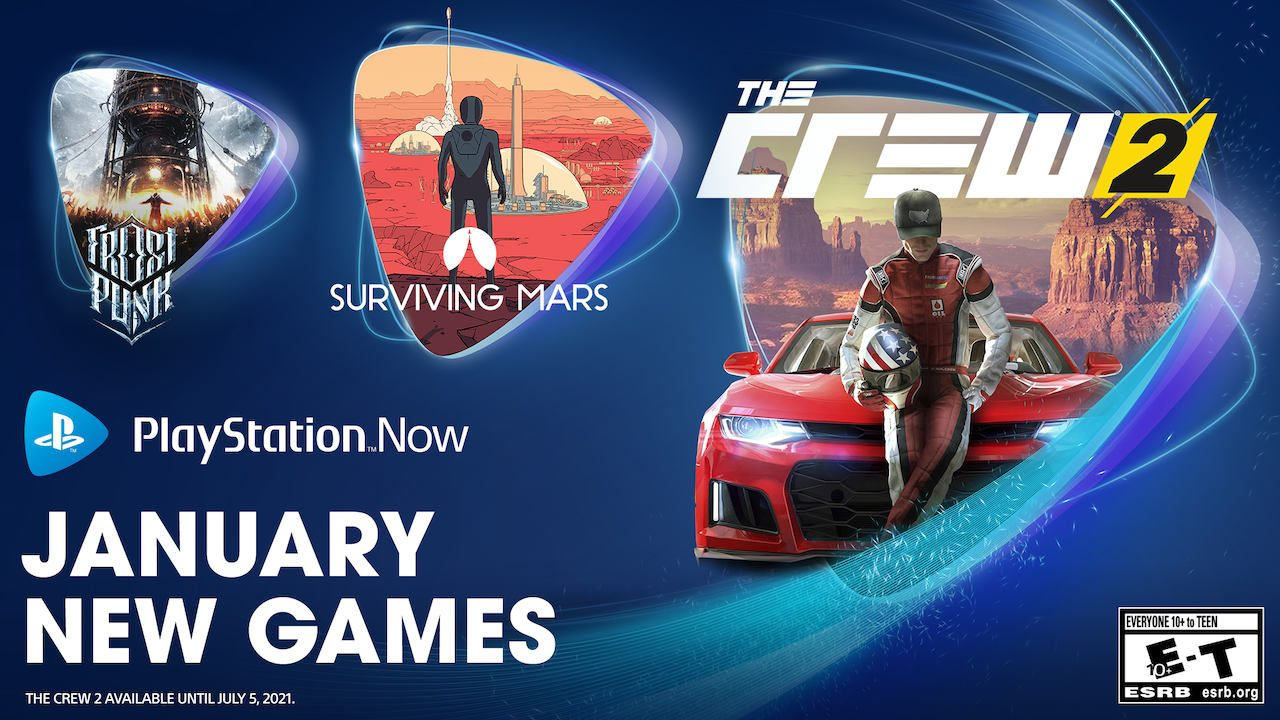 The Crew 2 headlines PlayStation Now's January lineup