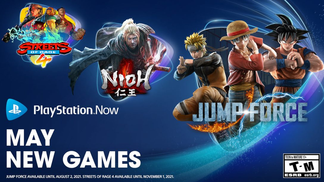 PlayStation Now games for May: Jump Force, Nioh and Streets of Rage 4