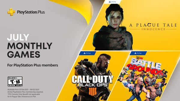 PlayStation Plus games for July: Call of Duty: Black Ops 4, WWE 2K Battlegrounds, A Plague Tale: Innocence