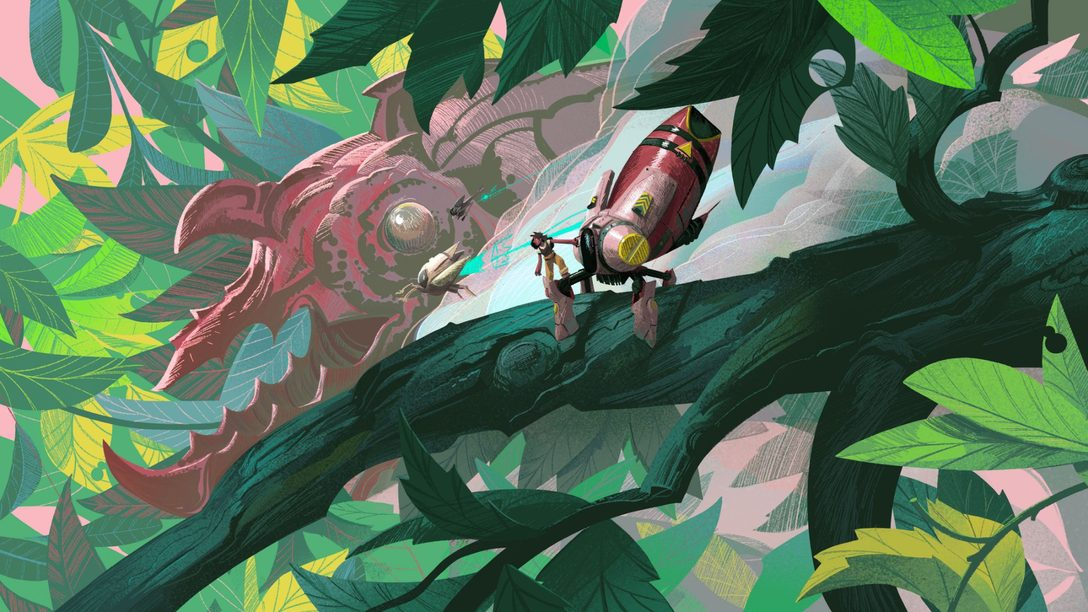 A look at Stonefly's bugged-out art design, out today on PS5 and PS4